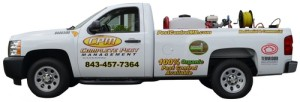 CPM Myrtle Beach Pest Control Service Vehicle with Organic Chemicals On Board