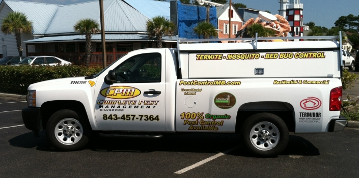 Myrtle Beach Pest Control truck with cap
